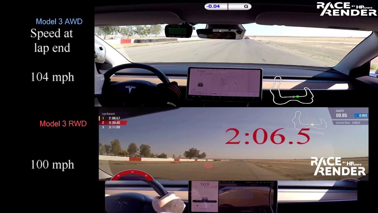 Tesla Model 3 Lap Compare: AWD vs. RWD at Buttonwillow ...