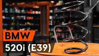 Kako zamenjati sprednji vzmet amortizerja na BMW 520i (E39) [VODIČ AUTODOC]