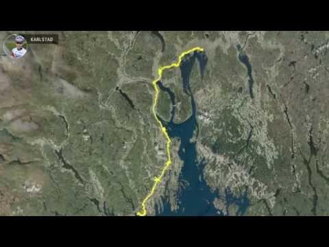 Oslo-Paris på sykkel.  Etappe 1  Oslo-Larvik