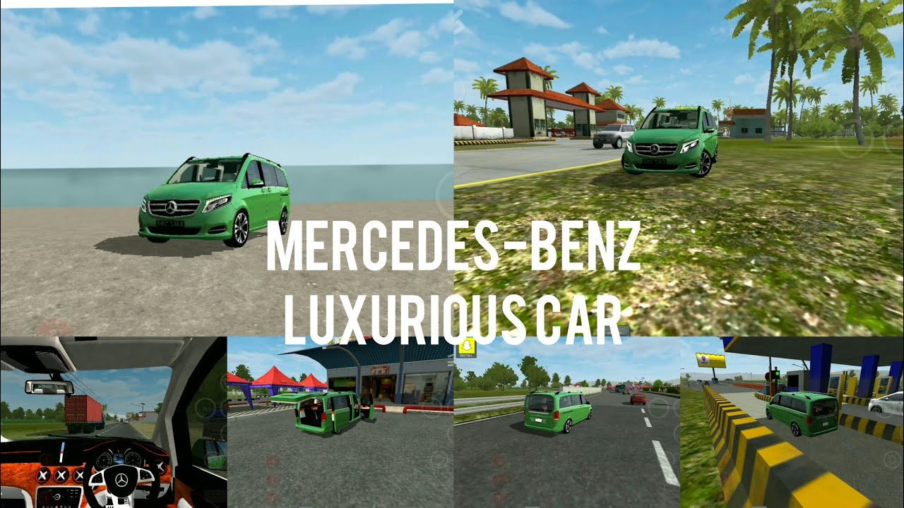 Bussid Bus simulator indonesia game in Mercedes-Benz Luxurious Car