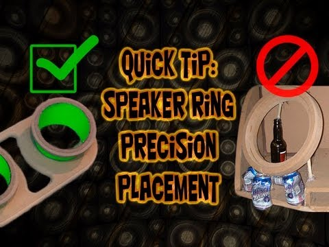 How to locate fiberglass speaker rings perfectly! Car Audio Fabrication Precision Quick Tip!