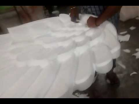 how to make peacock with thermocol