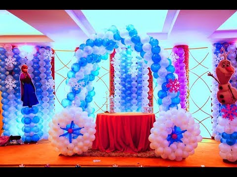 Frozen themed birthday party in Country Inn YouTube