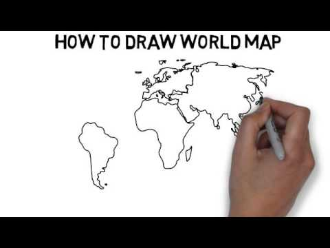 How To Draw World Map YouTube - World map drawing outline