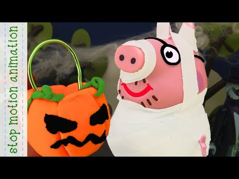 Daddy Pig's Halloween Costume Peppa Pig TV Toys Stop Mption Animation In English
