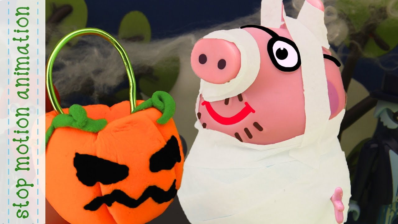 Daddy Pig S Halloween Costume Peppa Pig Tv Toys Stop Mption Animation In English