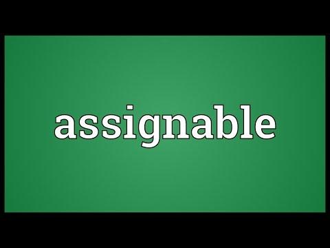 Header of assignable