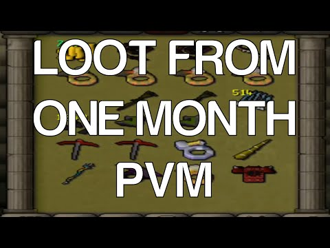 [OSRS] Loot From ONE MONTH OF PVM [Bossing + Slayer]