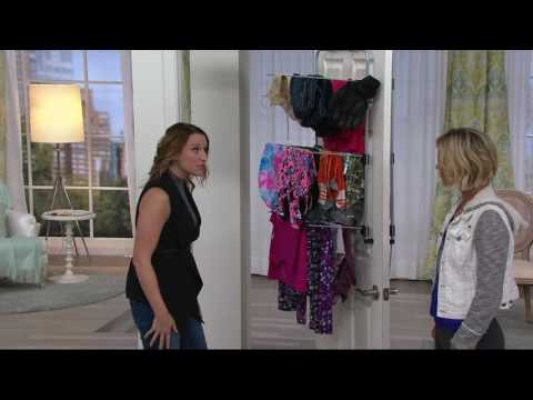 Metaltex Over the Door Clothing and Towel Drying Rack on QVC