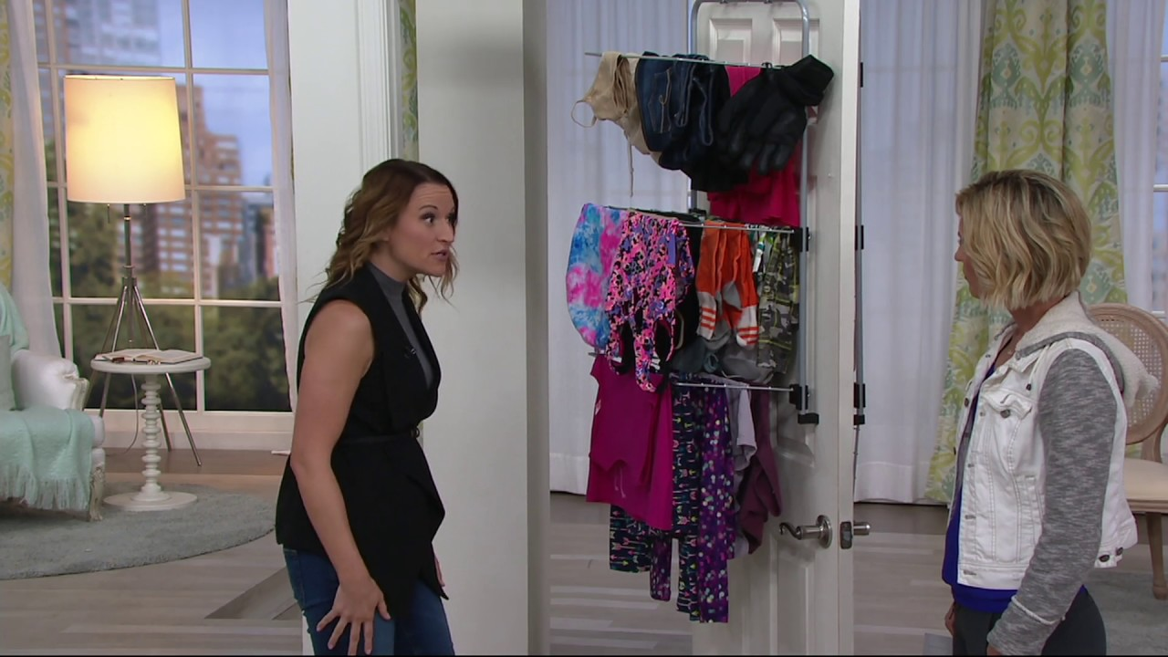Metaltex Over The Door Clothing And Towel Drying Rack On Qvc Youtube