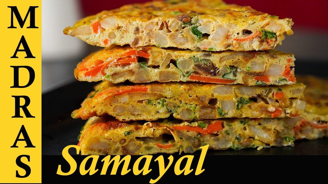 Vegetable Omelette Recipe In Tamil Spanish Omelette Healthy Breakfast Recipe In Tamil Viva Recipes