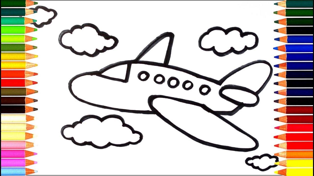 Как нарисовать самолёт для детей шаг за шагом - YouTube