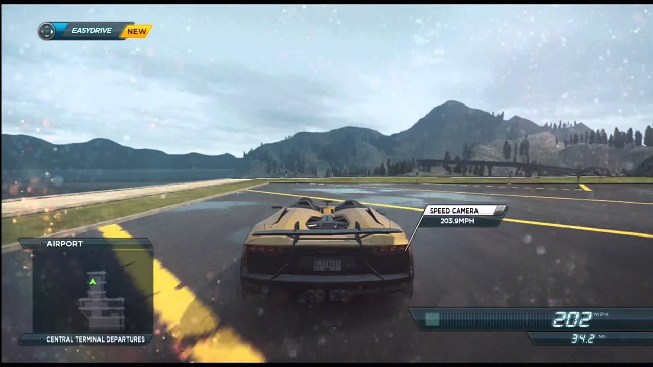 need for speed most wanted 2012 lamborghini aventador j top speed run