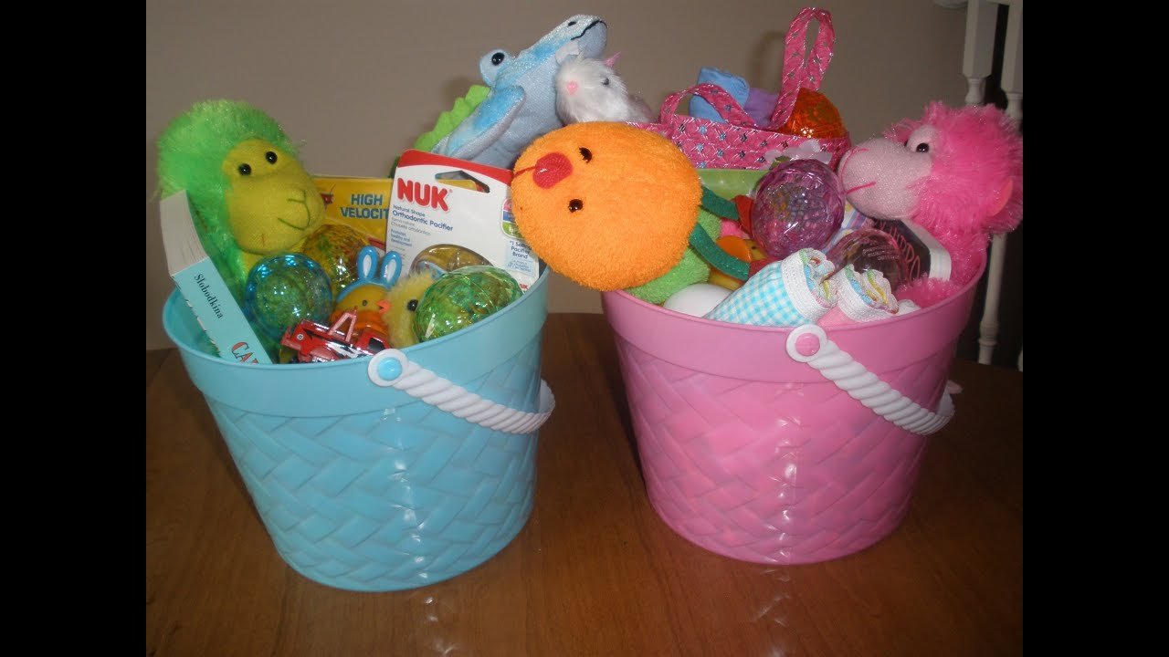 Cheap and useful easter basket ideas for children under 2 youtube negle Images