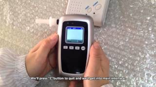 Breathalyzer-Professional Alcohol Tester-How to operate AT8100 ?