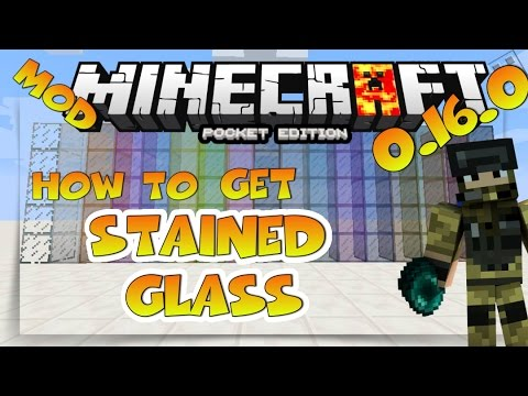 HOW TO HAVE STAINED GLASS IN MINECRAFT PE 1.0 ... - YouTube