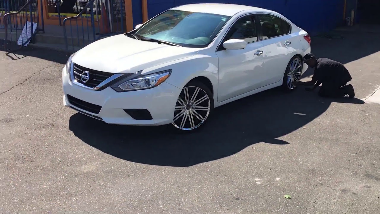 2016 Nissan Altima Sitting On 20 2 Crave No 37 Chrome Wheels And 245 35 Lexani Tires