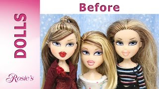 Bratz TRIPLETS Valentina, Siernna, Oriana Makeover - Hair Repair and New Clothes