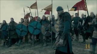 VIkings 4x18 Aelle's army vs Sons of ragnar Army