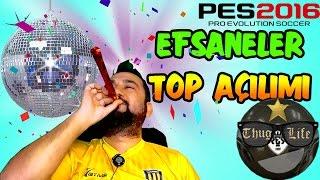 PES 2016 MYCLUB EFSANE OYUNCULAR TOP AÇILIMI | 12 TOP!