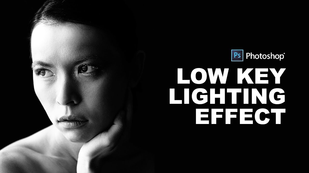 How to create low key portrait effect in photoshop black white dramatic lighting tutorial