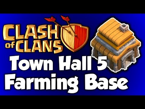 Clash Of Clans Town Hall 5 Defense (CoC TH5) BEST Farming Base Layout Defense Strategy