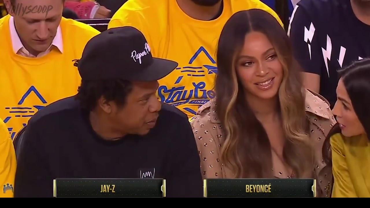 Beyonce Glares At Mystery Woman Talking To Jay-Z At NBA