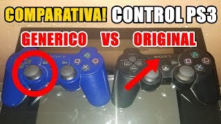 (CVG) Vídeo COMPARATIVA Control PS3 ORIGINAL vs GENÉRICO (Pirata Copia Chino)