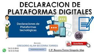 DECLARACIÓN DE PLATAFORMAS DIGITALES ✅ PAGO PROVISIONAL✅