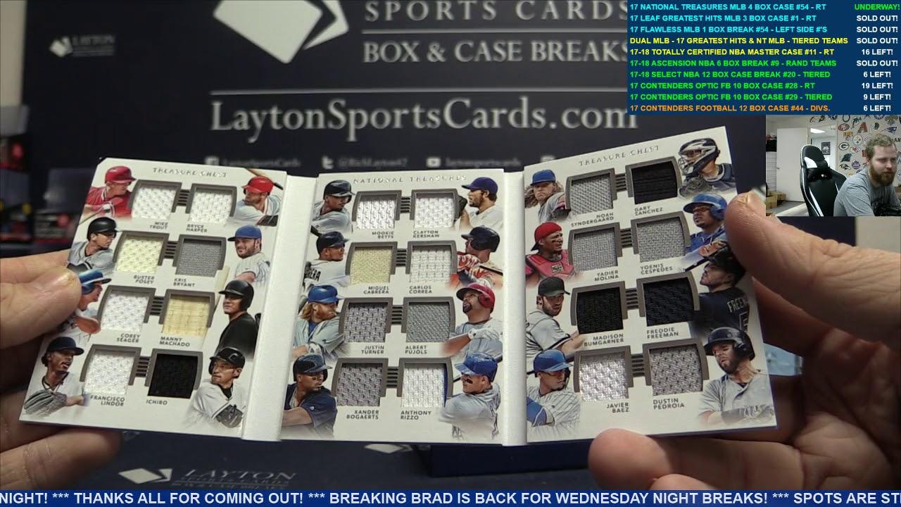 22429fdd932 2017 Panini National Treasures Baseball Hobby 4 Box Case Break  54 – RANDOM  TEAMS