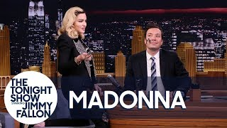 Madonna Serenades Jimmy as She Gives Him a MDNA Facial