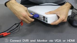 Product Assembly - Home Protector 1080p 4 Camera CCTV (2019)