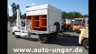 Youtube-Video Hille TK 6 A Kabelwagen Kabelverlegewagen Kabelwinde Diesel
