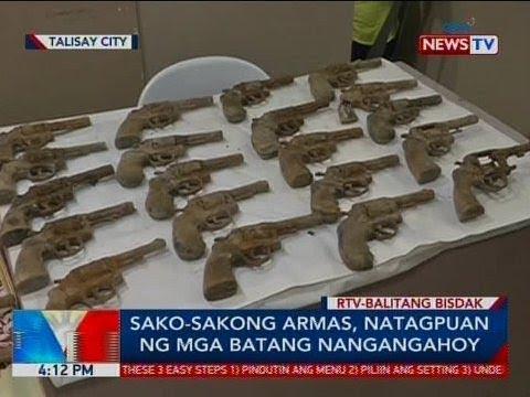 BP: Sako-sakong armas, natagpuan ng mga batang nangangahoy sa Talisay City