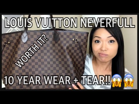 LOUIS VUITTON NEVERFULL Worth It? 10-Year Wear & Tear   GINALVOE