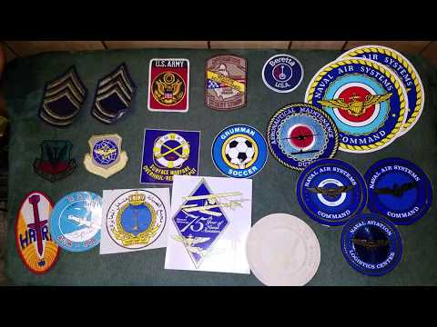 Misc. U.S. Army + Navy Patches & Stickers