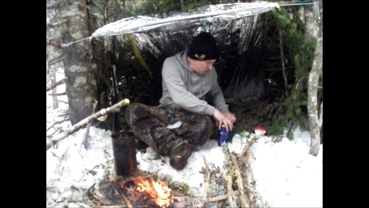 Solo Winter Bushcraft Overnight Part 1 Lean To Youtube