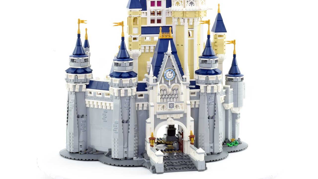 Lego super smooth stop motion - Disney Castle 71040 - speed build (review)