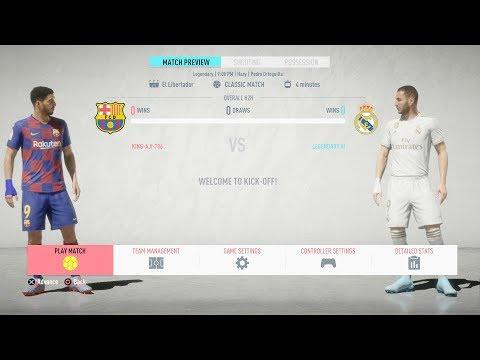 FIFA 20 - FC Barcelona Vs Real Madrid - FULL MATCH - (PS4 GAMEPLAY)