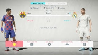 ... the new instalment of fifa is here as barcelona and real madrid face of! relive this el c...