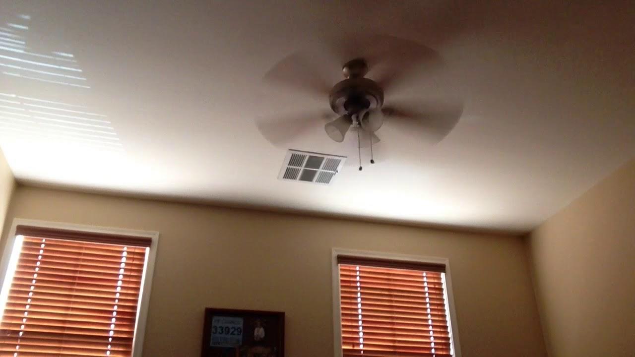 Very wobbly harbor breeze ocracoke ceiling fan youtube very wobbly harbor breeze ocracoke ceiling fan mozeypictures Gallery