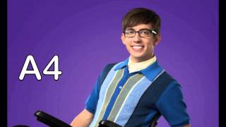 Kevin McHale vocal range Glee season 1 - 6: Bb2 - C6