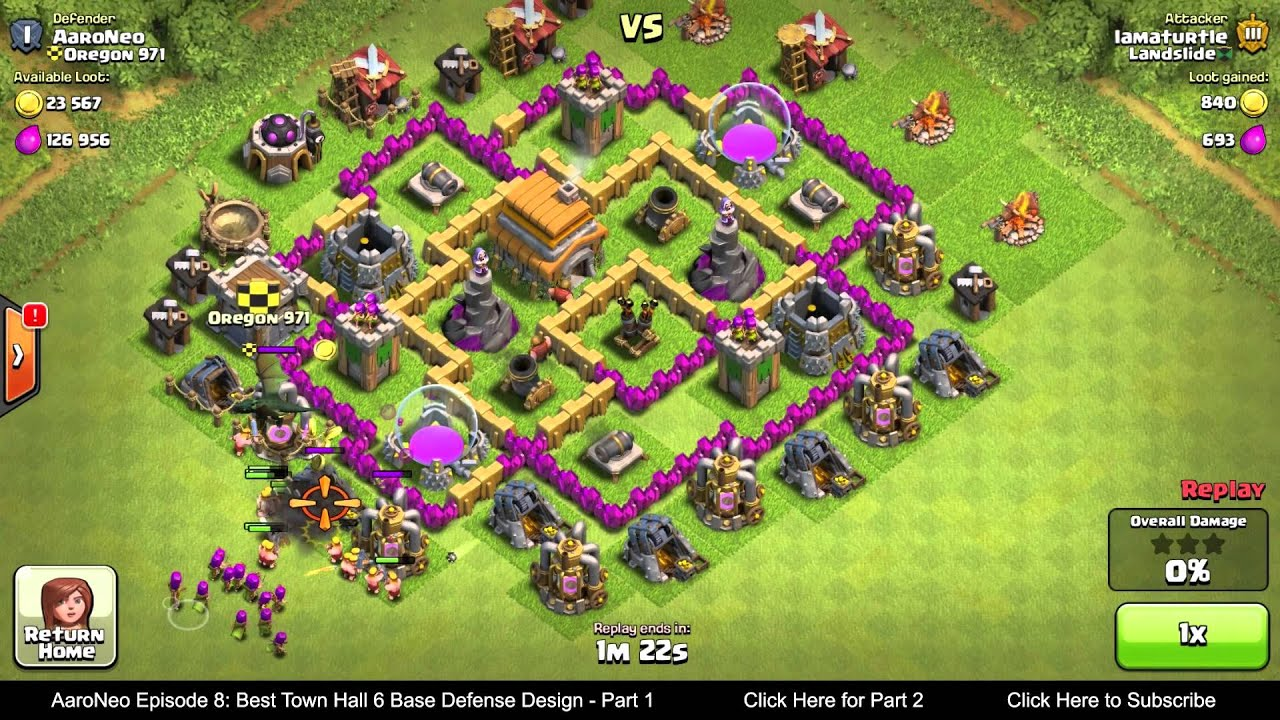 Wall Design For Town Hall 6 : Best town hall level th base defense design layout