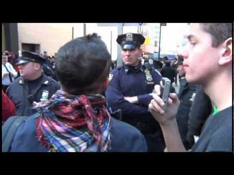 US Marine Stands Down NYPD