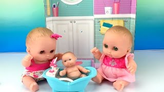 Twin Baby Dolls Lil Cutesies Bathtime for Little Doll Babies and How to Give Baby a Bath Video