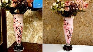Plastic bottle flower vase / Easy Flower vase making at home