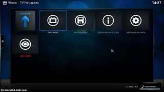 Repeat youtube video Tutorial - como obter e instalar o XBMC, Configurar, Addons e Tv portuguesa