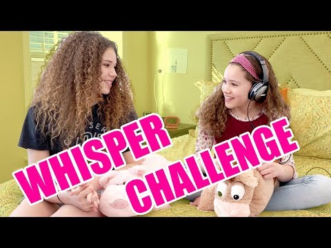 Try Not To Sing Along! Whisper Challenge (Haschak Sisters)