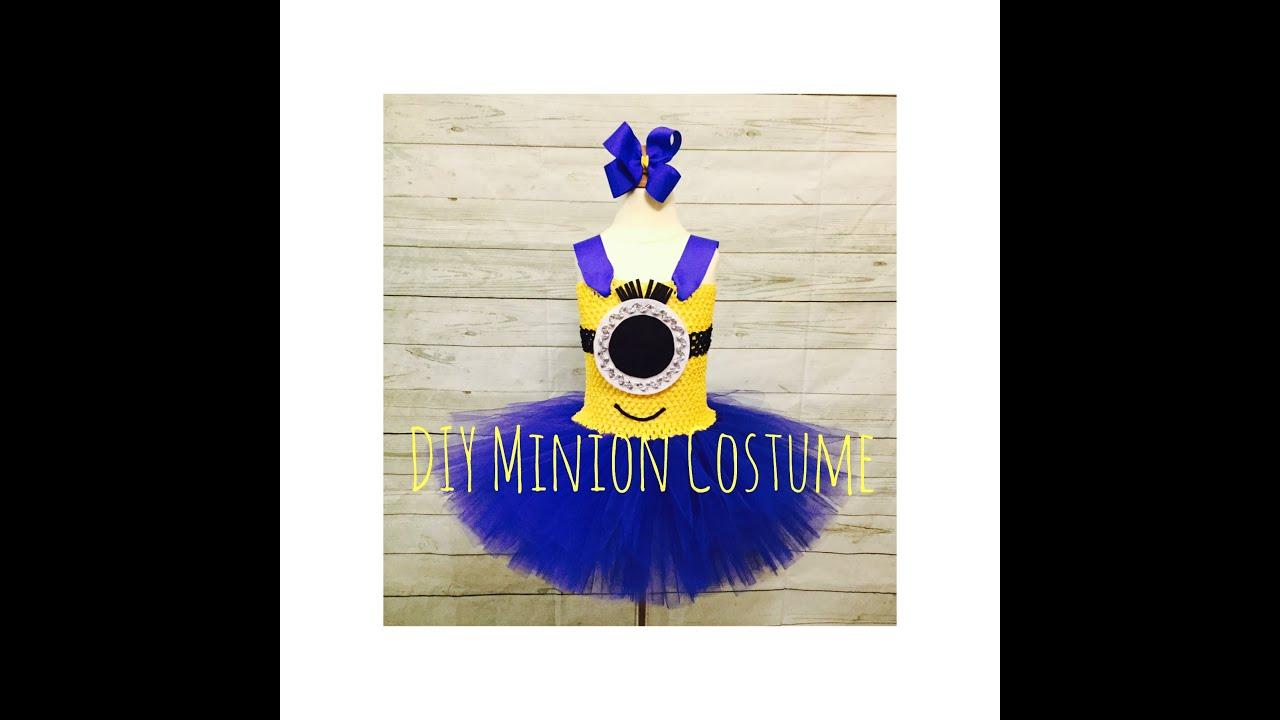 diy minion tutu dress costume youtube