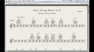 Slow Swing Blues in G - backing track for soloing